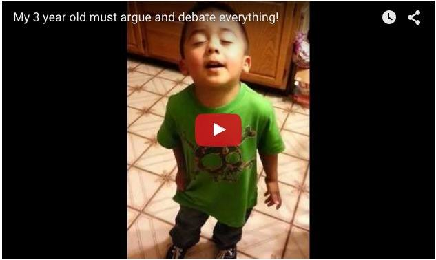 This 3-year-old something knows how to argue well