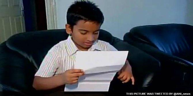 8-year-old Bangalore boy writes letter to Narendra Modi