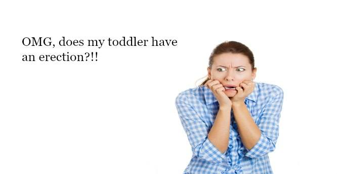 toddler with erection