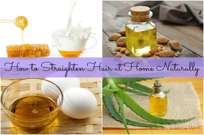 7 home remedies to straighten hair naturally