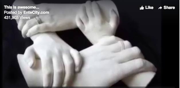 The family puts PoP on their hands. What happens next will amaze you...