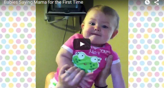 Cute babies saying mama for the first time