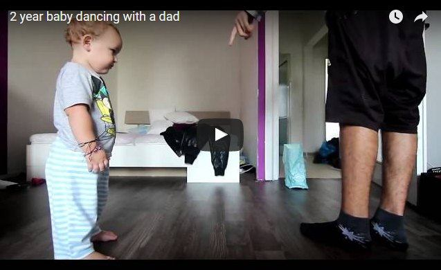 This 2-year-old is giving his dad tough competition in dance