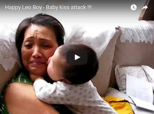 Baby starts kissing and just doesn't stop