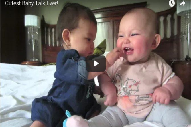 These babies are having the cutest conversation ever
