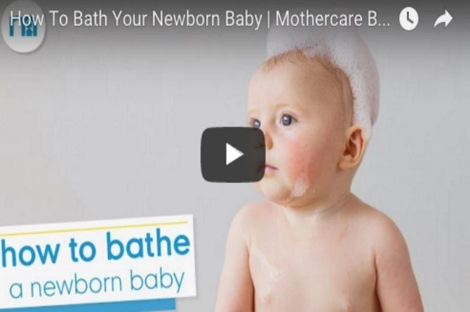 Useful video on how to bathe your newborn baby