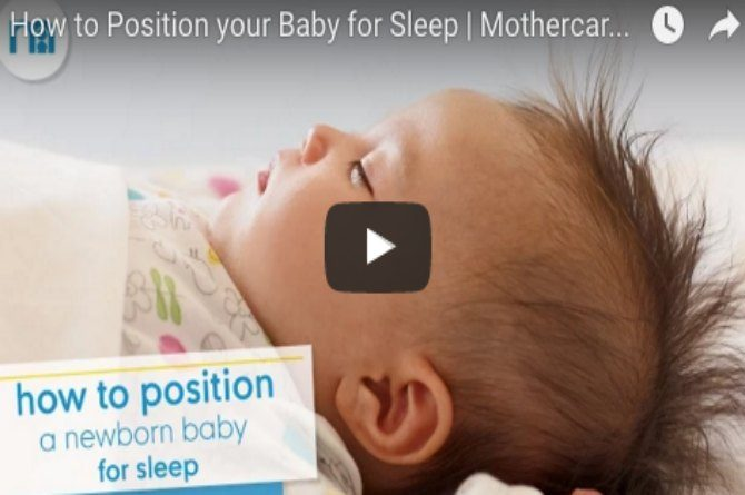 How to position your baby so he gets a sound sleep