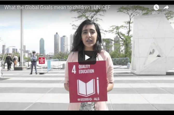 UNICEF Video: What the global goals mean to children