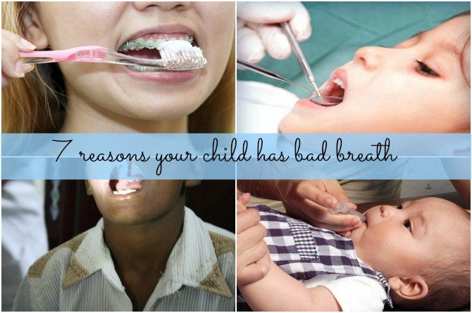 7 reasons your child has bad breath