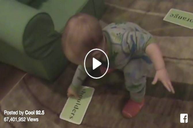 This baby is just 16 months old and is already a genius
