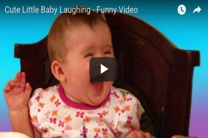 This baby laughs hysterically as she plays along with two girls