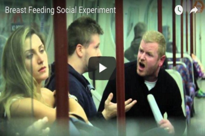 This social experiment shows you that there is no shame in breastfeeding in public