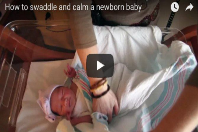 Useful tips on how to swaddle and calm a newborn