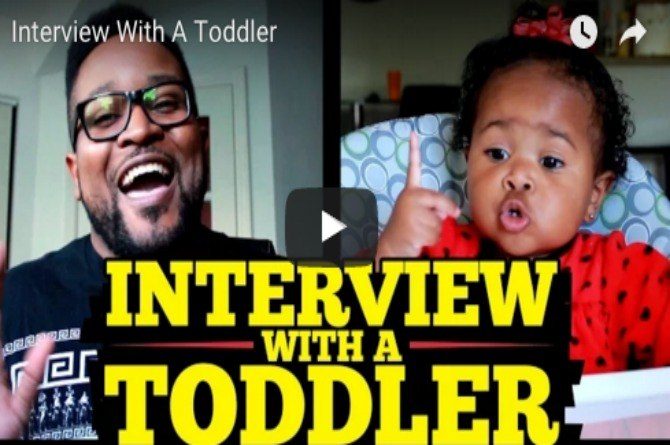 All of 14 months, but she answers interview questions like a pro