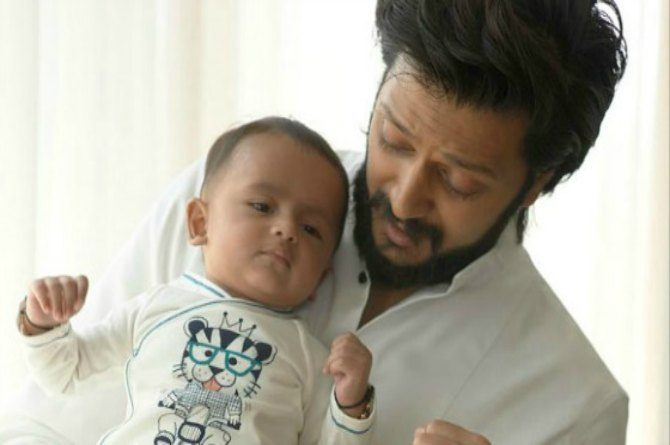 Riteish Deshmukh elated as son calls him 'baba' for the first time