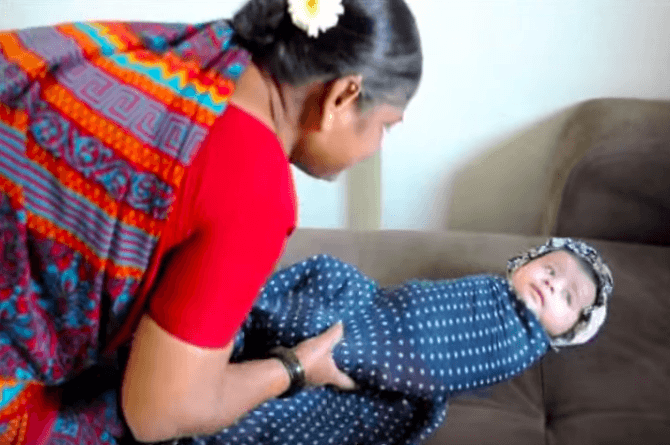Useful tips: How to wrap babies the Indian way