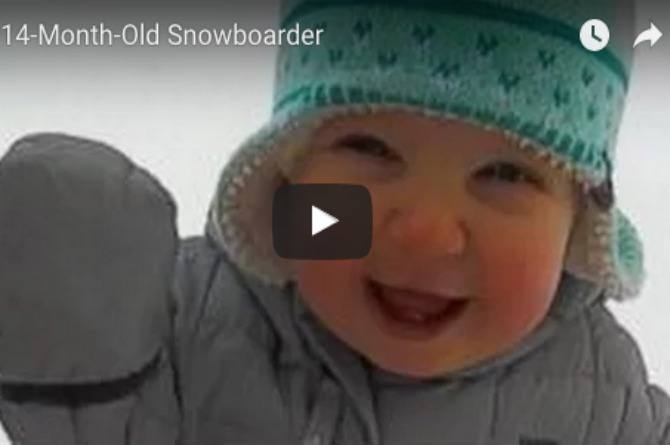 Must watch: This 14-month-old snowboarder is taking over the Internet