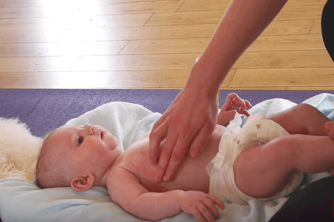 Useful tips: Baby massage technique for constipation and gas