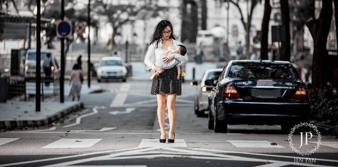 Singapore photographer mum shows daring pictures of women breastfeeding their babies