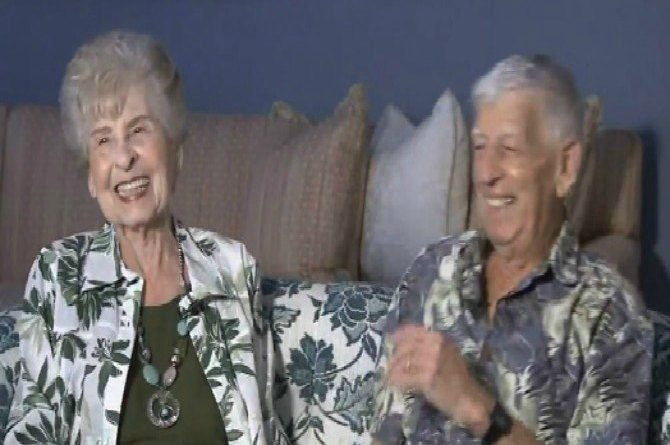 Couple married for 70 years still hold hands and end each day with a kiss