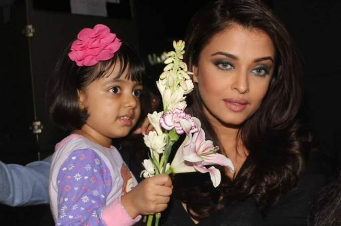 Spotted: Aishwarya Rai Bachchan with daughter Aaradhya at the launch of a play school