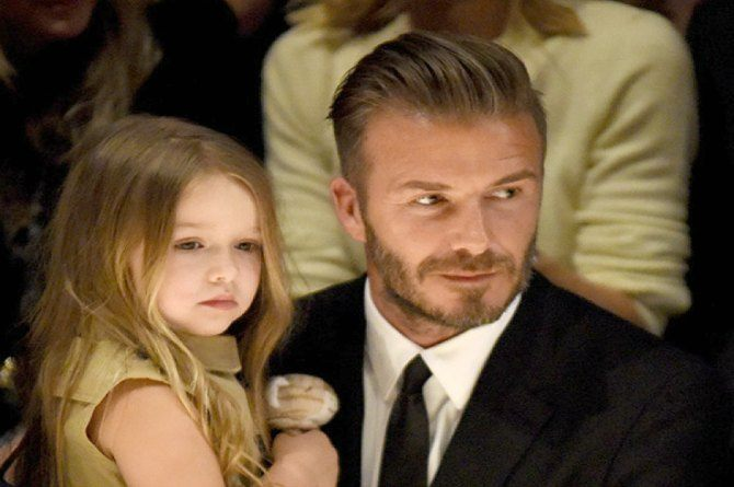 4-year-old Harper Beckham is now designing clothes!