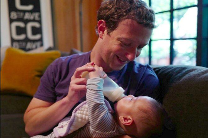 Mark Zuckerberg brings his competitive drive to fatherhood in an adorable way