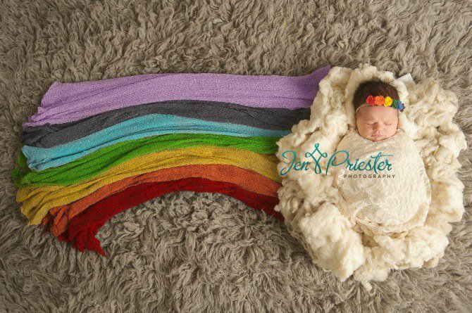 This rainbow baby's photo is going viral for all the right reasons