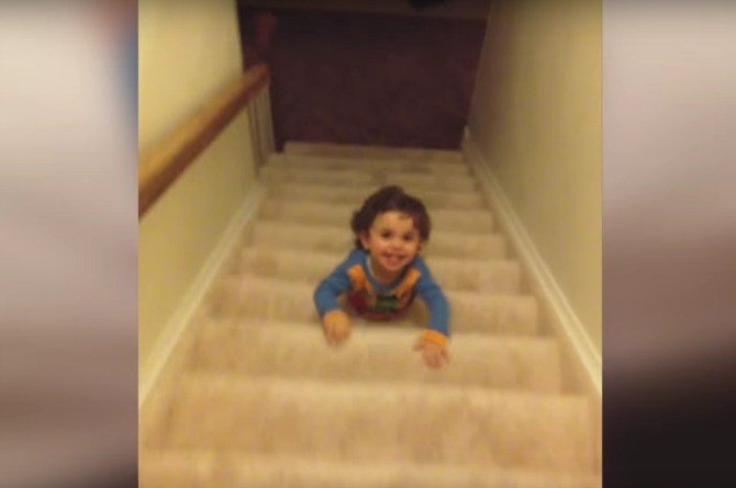 This kid avoids bedtime in the funniest way imaginable