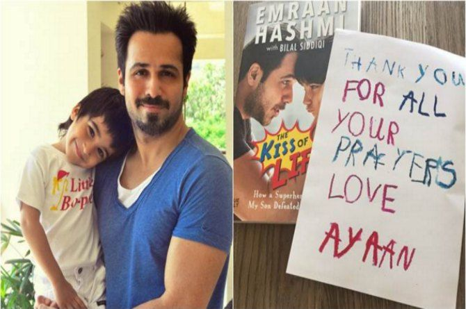 After defeating cancer, Emraan Hashmi's son sends thank you notes to all B-town stars