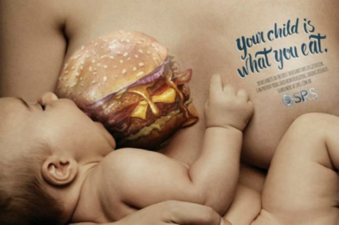 Eye-opening campaign advocates healthy eating for pregnant women and nursing mums