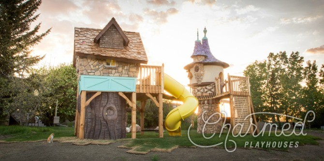 Crafty dad builds playhouses so incredible, you'll have to see to believe