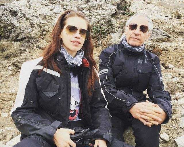 How cool! Actress Kalki Koechlin bike rides the north-east with her father