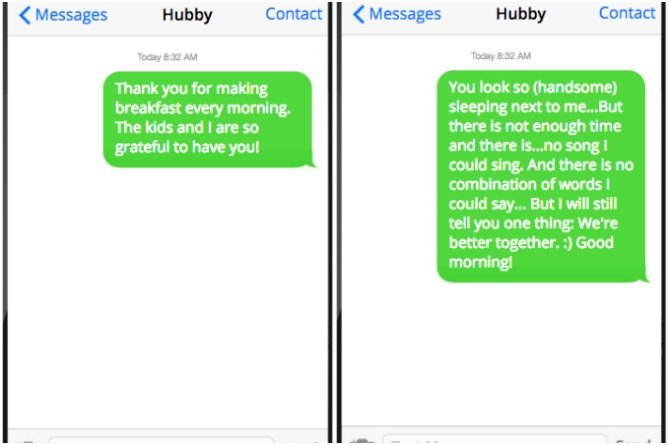 10 love texts to send your husband to keep the spark alive