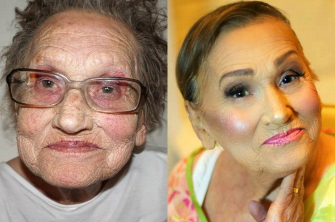 LOOK: Makeup artist transforms her 80-year-old grandma into 'glam-ma'