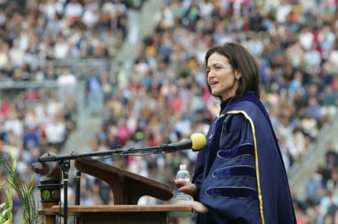 Facebook's COO speaks about husband's death in powerful speech