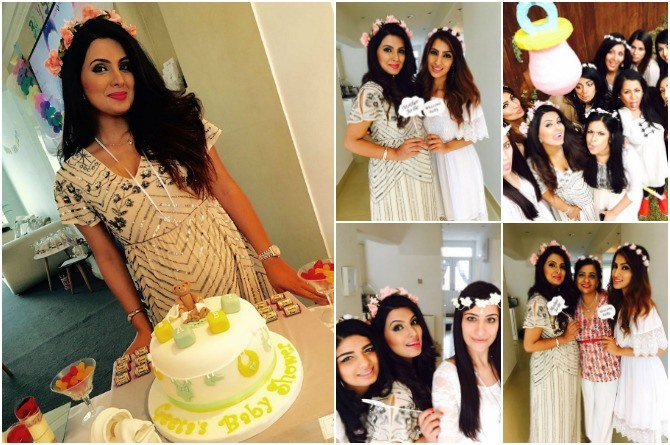 In Photos: We take you inside Geeta Basra's white-themed baby shower