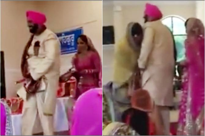 This video of a Punjabi groom's wardrobe malfunction will leave you in splits!