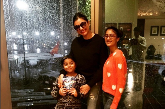 Sushmita Sen is living it up in Thailand with her 'beautiful' daughters!