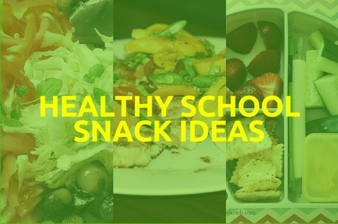 Infographic: Healthy school snack ideas