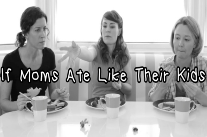 Watch these funny mums eat food just like their kids