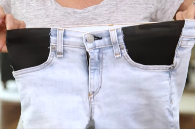 Diy Maternity Jeans Turn Your Favorite Pair Of Jeans Into