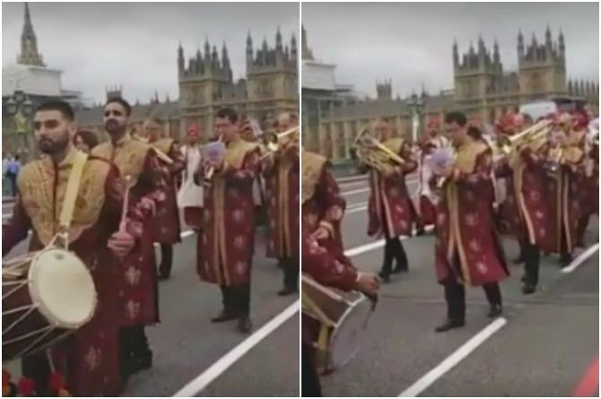Must watch: This amazing Indian baraat went past the Big Ben playing Aaj Mere Yaar Ki Shaadi!