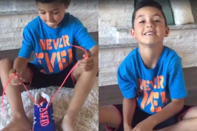 This autistic boy and his mom's shoe-tying tutorial has gone viral