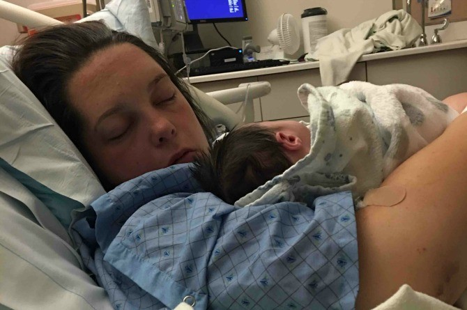 Woman gives miraculous birth hours after learning she was pregnant