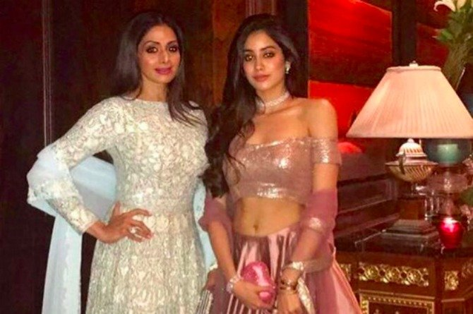 Have you seen the radiant Sridevi and her daughter Jhanvi Kapoor in this regal getup?