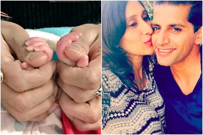 Wow! New dad Karanvir Bohra shares the first ever picture of his twins