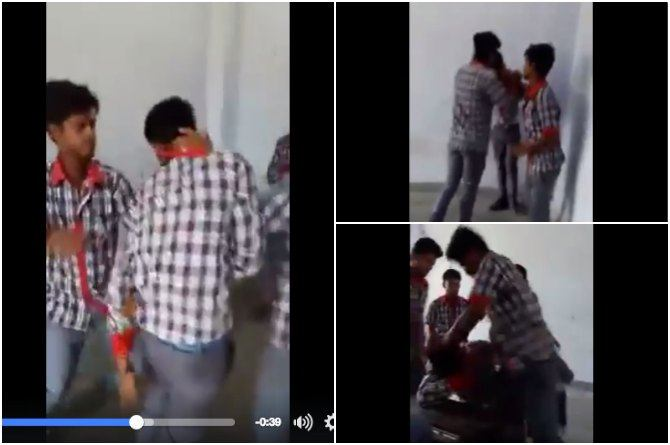 This video of two students mercilessly thrashing a classmate in Bihar would send chills down your spine!