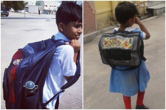 Your child's heavy school bag might give him back problems for life!