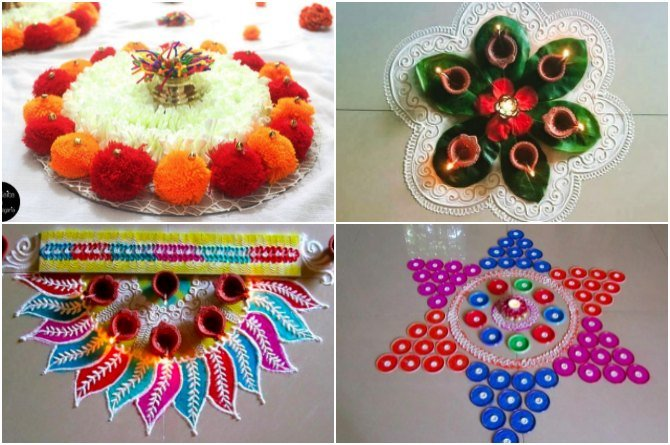 5 easy rangoli designs that mummies can try with their kids this Diwali!